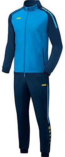 JAKO Kinder Champ Trainingsanzug Polyester, blau/Marine/Neongelb, 140
