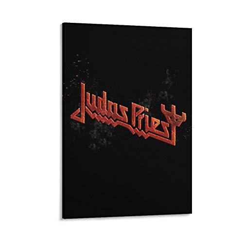 RHJJ Póster de Judas Priest Band Logo Impresión en lienzo Pintura de pared Póster Decoración de arte moderno para el hogar Obras de regalo 40 x 60 cm
