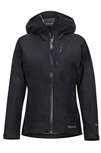 Marmot Wm s Knife Edge Jacket Giacca Antipioggia Rigida, Impermeabile, Antivento, Impermeabile, Traspirante, Donna, Black, M