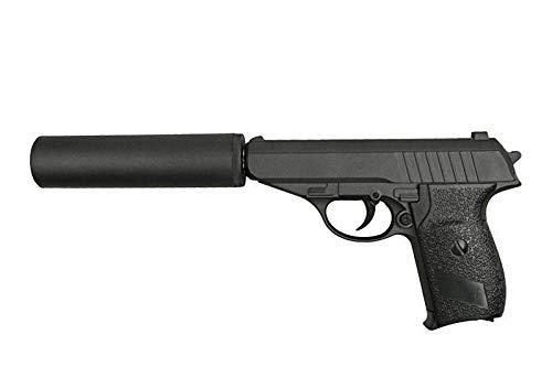 PACK Pistolet Airsoft GAPA3A métal Couleur Noir armement Manuel(Ressort) Puissance: 0,5 Joule livré avec Accessoire