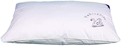 Soft Pillow With Feather Filling and r Cotton Cove, Size 50 70cm, King Queen