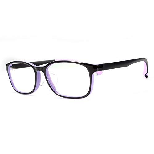 ZYM Kinder-Brillen Rahmen aus Kunststoff Kinderbrillen optische Rahmen Sehkorrektur Brille Brillen for Jungen und Mädchen (Frame Color : Purple)