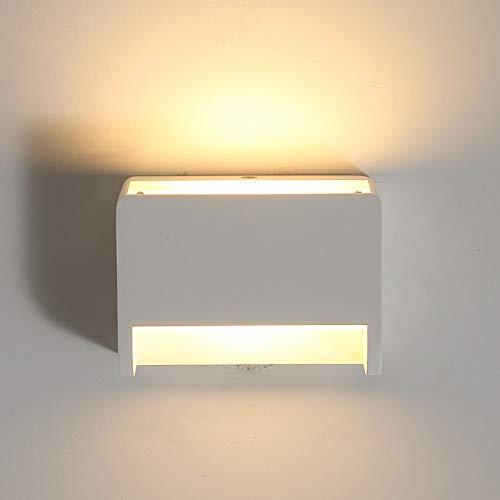 Moderne wandlamp LED muur Uplighter binnen verlichting lampen wandlampen met schakelaar lampen 7 watt warm wit 2700 karaat op en neer binnenspot gips voor woonkamer slaapkamer hal