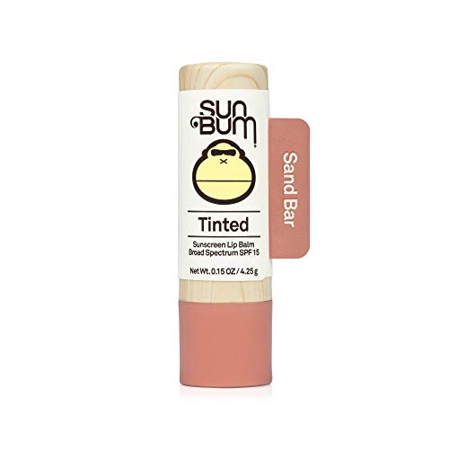 Sun Bum Tinted Lip Balm Sand Bar | SPF 15 | UVA / UVB Broad Spectrum Protection | Sensitive Skin Safe | HypoallergenicParaben Free | Ozybenzone Free | 015 Oz