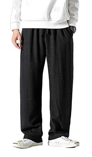 SK Studio Homme Pantalon Grande Taille Ceinture Elastique Cargo Lin Multipoches Pantalon Armée Verte Style 10 Noir 5XL