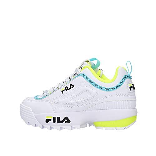 Zapatos de niña Zapatillas de Deporte FILA Disruptor en Cuero Blanco 1010851.92Q