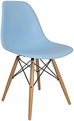 Chaise Privee® Pack de Sillas DSW - Azul, Natural, 6