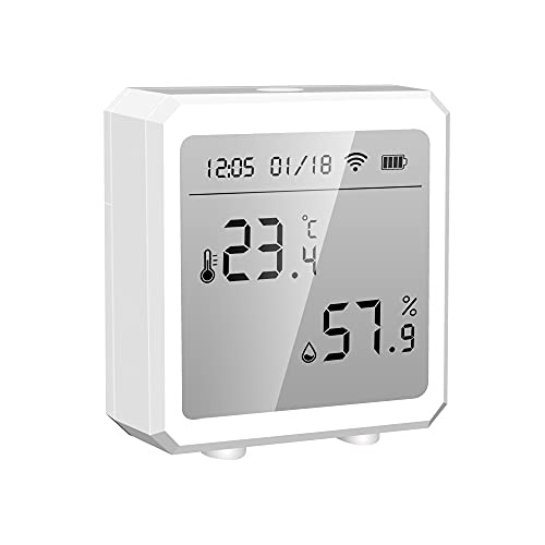 wifi temperature alarms Tuya WiFi Thermometer Hypnotizer, Smart Humidity and Temperature Sensor (with application notification alarm) Bluetooth Hygrometer Thermometer Connected to mobile phone alarms, House, Basement, Garage