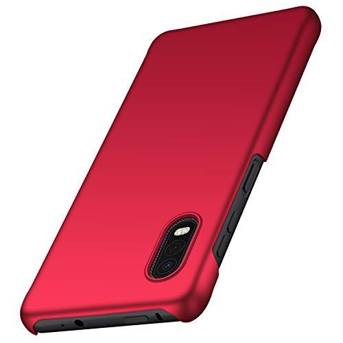 anccer Samsung Galaxy Xcover Pro Hülle, [Serie Matte] Elastische Schockabsorption & Ultra Thin Design für Samsung Galaxy Xcover Pro (Rot)