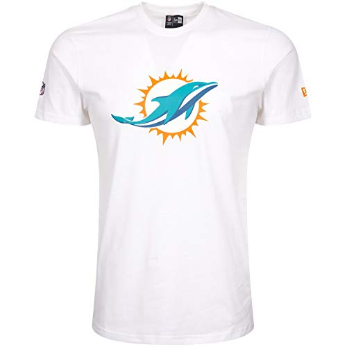 New Era Herren T-Shirt Miami Dolphins, Weiß, 3XL, 11380835