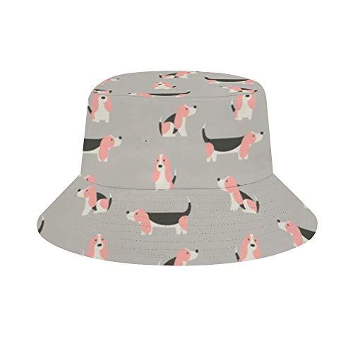 NA Herren Damen Fashion Bucket Hut Barbershop Ausrüstung Flagge Einheitsgröße Basset Hound Candy Geschenkpapier Phirefly