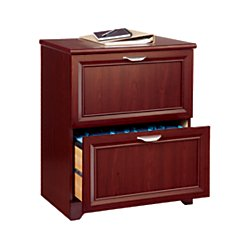 """Realspace Magellan 24""""W 2-Drawer Lateral File Cabinet, Classic Cherry"""