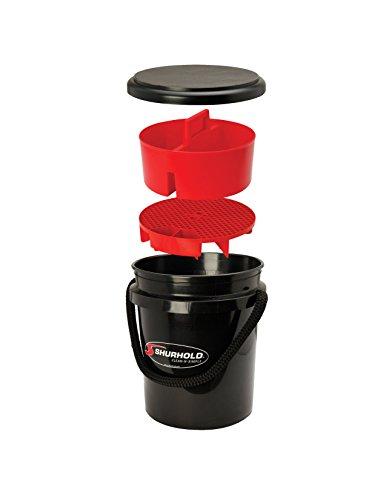Shurhold 2462 5 Gallon Black Multi-Purpose Bucket Kit