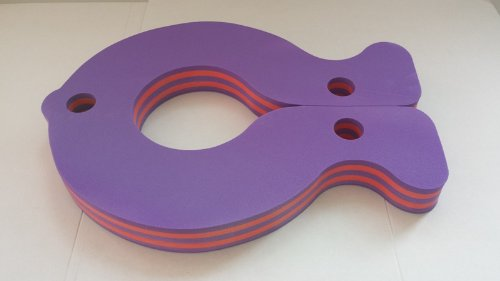 Schwimmbrett Fisch Schwimmfisch Auftriebshilfe Fisch Purple Lila Violett Stripes