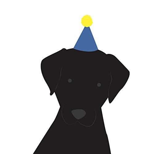 Labrador (zwart) Verjaardagskaart door Heather Alstead