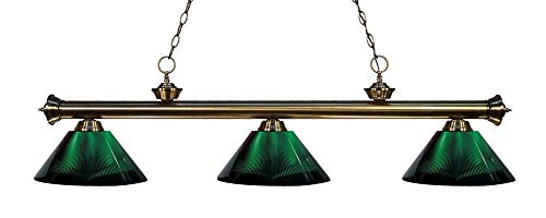 Z-Lite 200-3AB-ARG 3 Billiard Light, Antique Brass