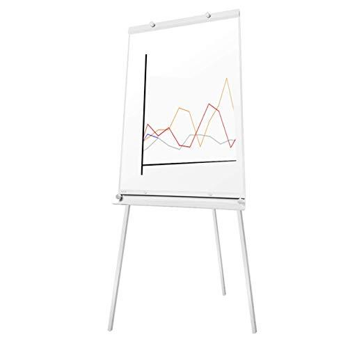S SIENOC Pizarra rotafolio con Caballete de Trípode Basic, 60x90cm, Trípode portátil Whiteboard Flip chart caballete con soporte …