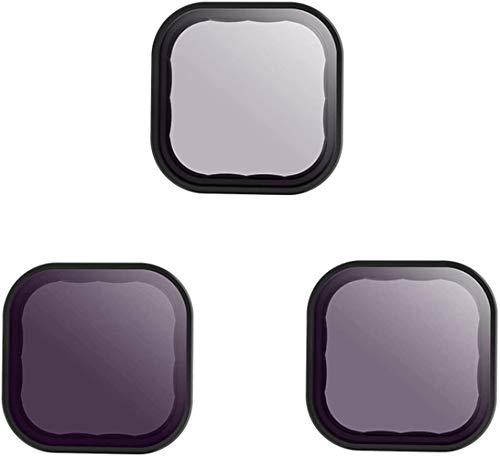 TELESIN Set filtri ND/CPL per filtri densità neutri, filtro obiettivi ND8 ND16 ND32 confezione da 3 pezzi per GoPro Hero 9 black, Camera Lens (ND8/ND16/ND32)