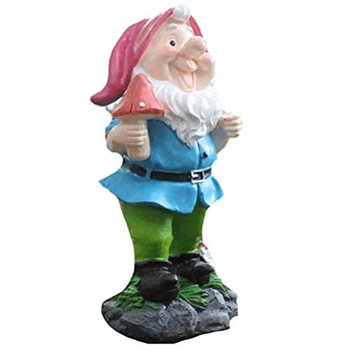 Balacoo Miniature Trädgård Gnomes Funny Gnome Trädgårdsdekoration Inomhus Utomhus Gräsmatta Figurer För Hemsida Yard Inredning Trädgård Tillbehör