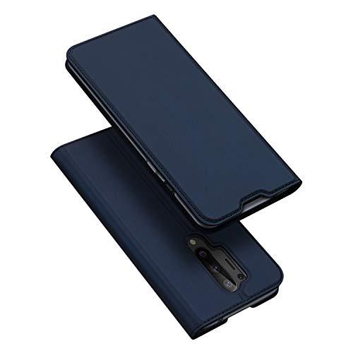 BaiFu Hülle für OnePlus 8 Pro Lederhülle Flip Hülle mit Magnetischem Superdünnem seidigem Brieftasche Schutzhülle Kompatibel mit OnePlus 8 Pro-Blau