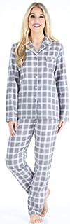 Image of Gray Plaid Flannel Pajamas for Women - PajamaMania