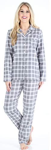PijamaMania Pijama de Pijama de Manga Larga de Franela de