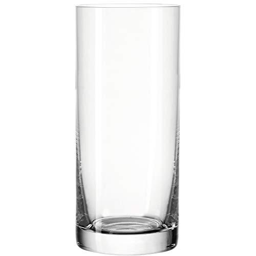 Leonardo Easy+ Trink-Gläser, 6er Set, spülmaschinenfeste Wasser-Gläser, geradlinige Glas-Becher, Longdrink Getränke-Set, Größe XL,460 ml, 039613