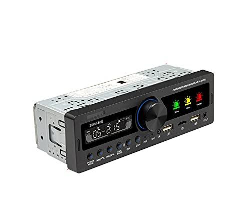 Adaptador de coche 1 ESTRUENDO Estéreo del coche Bluetooth MP3 Jugador con función de prueba de alcohol MIC Multimedia Localizador de radio USB / SD / AUX Aporte Transmisor Bluetooth ( Color : 80E )