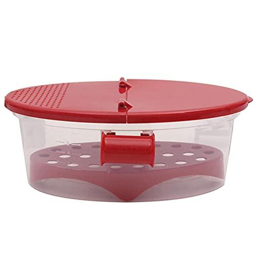 TOSSPER Perfekte Nudelkocher Hitzebeständige Pp Mikrowelle Dampfer Sieb Pasta Mikrowelle Küche Werkzeuge Spaghetti Bowl