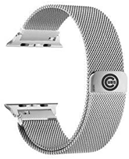 GAME TIME Chicago Cubs Stainless Steel Watch Band Compatible with Apple Watch 42mm/44mm