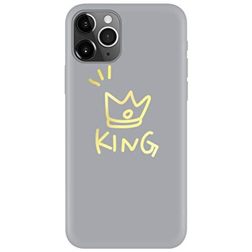 Pnakqil Cover iPhone 5 / SE / 5s,Ultrasottile Morbida Silicone Protettiva Custodia Colore Candy Grigio Impermeabile Antiurto Disegni San Valentino Regalo per iPhone 5 / SE / 5s,Corona