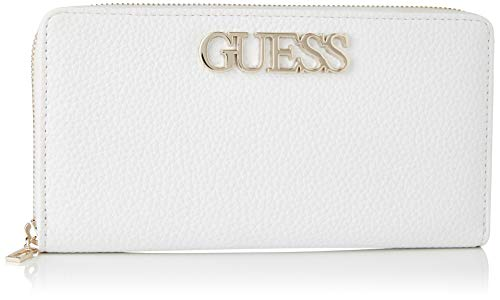 Guess Uptown Chic SLG Cheque ORGNZR, Small Leather Goods Donna, Bianco, Uni