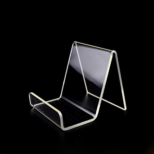 Soporte de exhibición de plexiglás acrílico transparente, soporte de exhibición para zapatos, teléfono, tableta, menú, libro de cocina (paquete de 1)