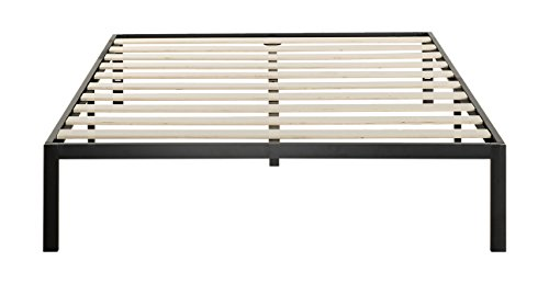 Zinus Modern Studio 14 Inch Platform 1000 Metal Bed Frame / Mattress Foundation / no Boxspring needed / Wooden Slat Support / Good Design Award Winner, Queen