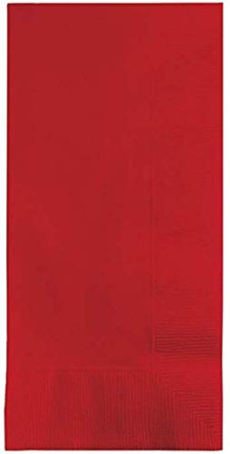100 Classic Red Dinner Napkins for Wedding, Party, Bridal or Baby Shower, Disposable Bulk Supply Quality Product (Classic Red)