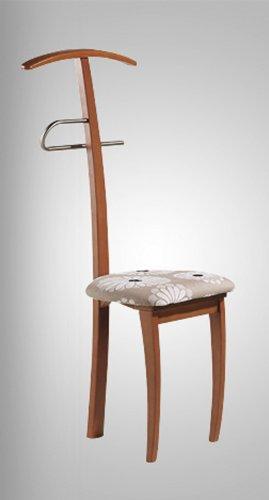 PEGANE Valet de Nuit Noir sous Forme de Chaise en hêtre Massif et Fer et d'une Assise, Dim: 46 x 44 x 108 cm (Poids : 6 Kg)