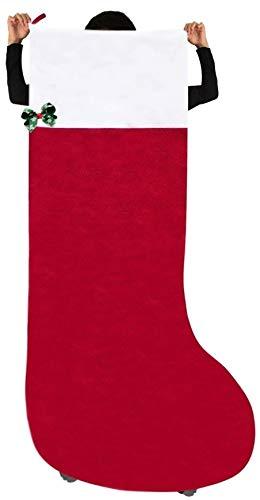 全長141cm 幅72cm 子供 がすっぽり入る 超特大 クリスマス プレゼント 用 靴下 ワンポイント リーフ 持ち手...