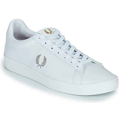 Fred Perry Spencer Leather Zapatillas Moda Hombres Blanco - 45 - Zapatillas Bajas Shoes