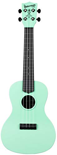 Kala Waterman KA-CWB-GN - Ukelele Sea Foam Green para concierto, incluye funda