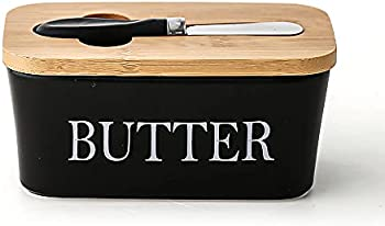Tiffaxa Large Butter Dish with Lid Ceramic Butter Keeper with Knife