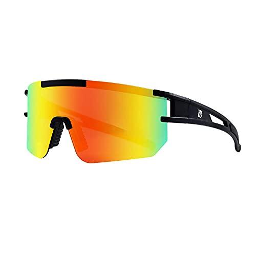 Zfeng Gafas de deporte al aire libre polarizadas protección UV viaje cambio de color gafas de sol viento y arena visión nocturna gafas de montar parasol espejo-C