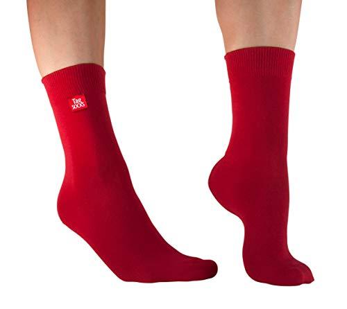 Tag Socks - Unisex Socken 'Red Rum' Skandinavian Design - Rot - 43-46