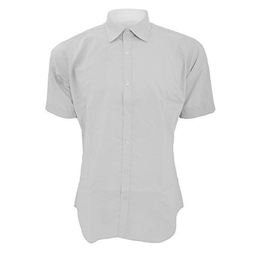 KUSTOM KIT - Chemise Coupe cintrée à Manches Courtes - Homme (XS/S) (Blanc)