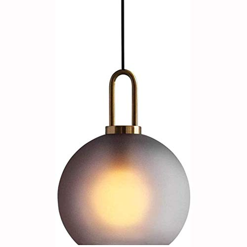 DONGYAN Lámparas Colgantes posmodernos Sombra de Vidrio nórdico Moderno Helada E27 Bola Lámpara de suspensión Araña Altura Sala Sala Comedor Techo Techo