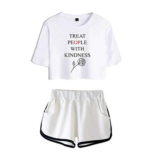 U CAN for Harry Styles T-Shirt Lenden Bauch T-Shirt Shorts Anzug Weiblich
