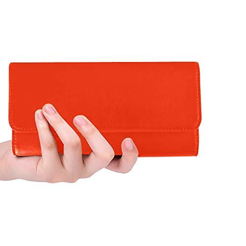 Unique Custom Santas Mustache Women Trifold Wallet Long Purse Credit Card...