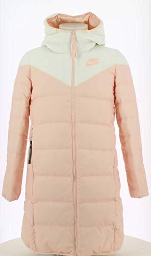 Nike W NSW WR Dwn Fill Prka Rus Parka Damen S Weiß/Rosa/Rosa (White/Echo Pink/Echo Pink)
