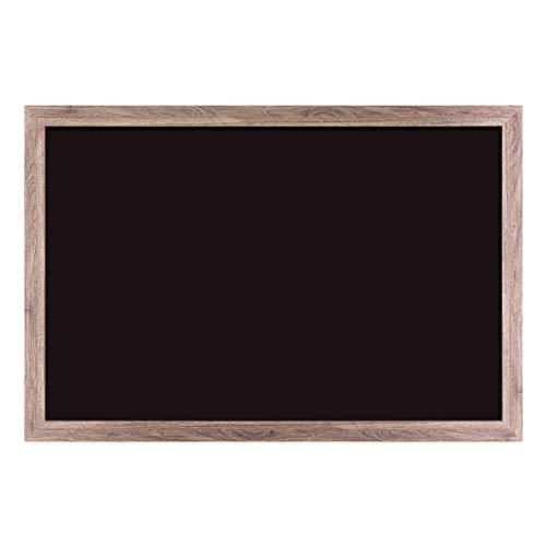 U Brands Magnetic Chalkboard, 36 x 24 Inches, Rustic Wood Frame (4549U00-01)