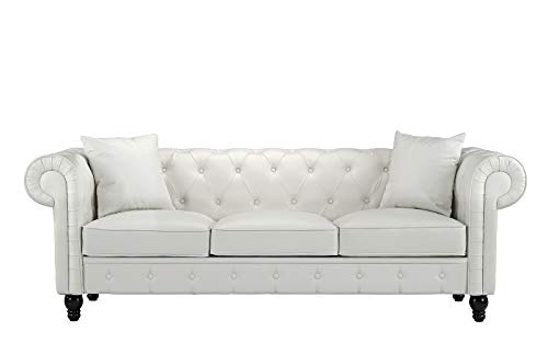 Housel Living Sofa, White