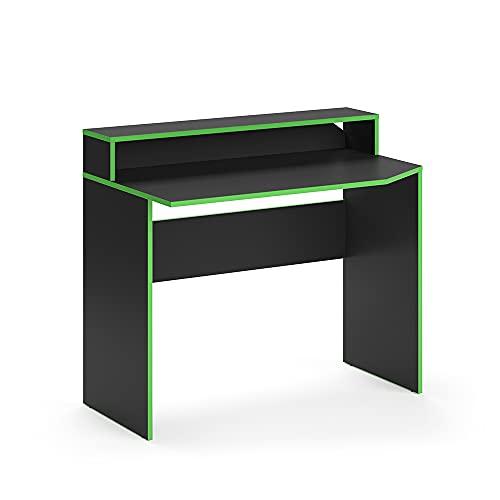 Vicco Gaming Desk Schreibtisch Kron Gamer PC Tisch Computertisch Bürotisch Set (Computertisch Set 3) (Computertisch lang)